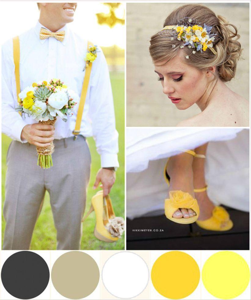 Matrimonio In Giallo E Bianco : Le tue nozze in giallo bianco e grigio