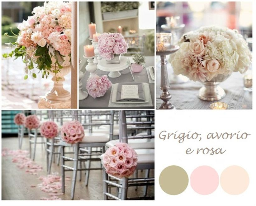 Matrimonio In Rosa E Bianco : Le tue nozze in grigio avorio e rosa