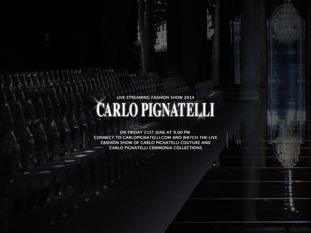 Sfilata in diretta collezione Sposo Carlo Pignatelli 2014