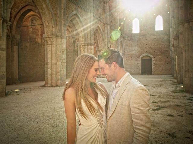 Matrimonio di lusso irlandese in abbazia toscana