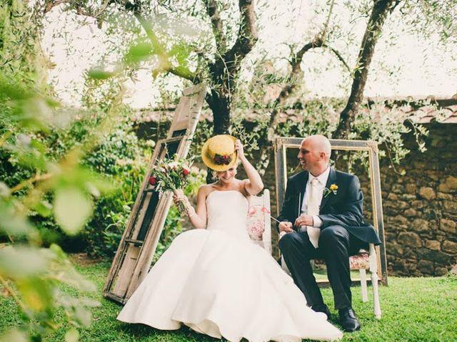 Il matrimonio rustic-chic di Angela e Brian in Toscana