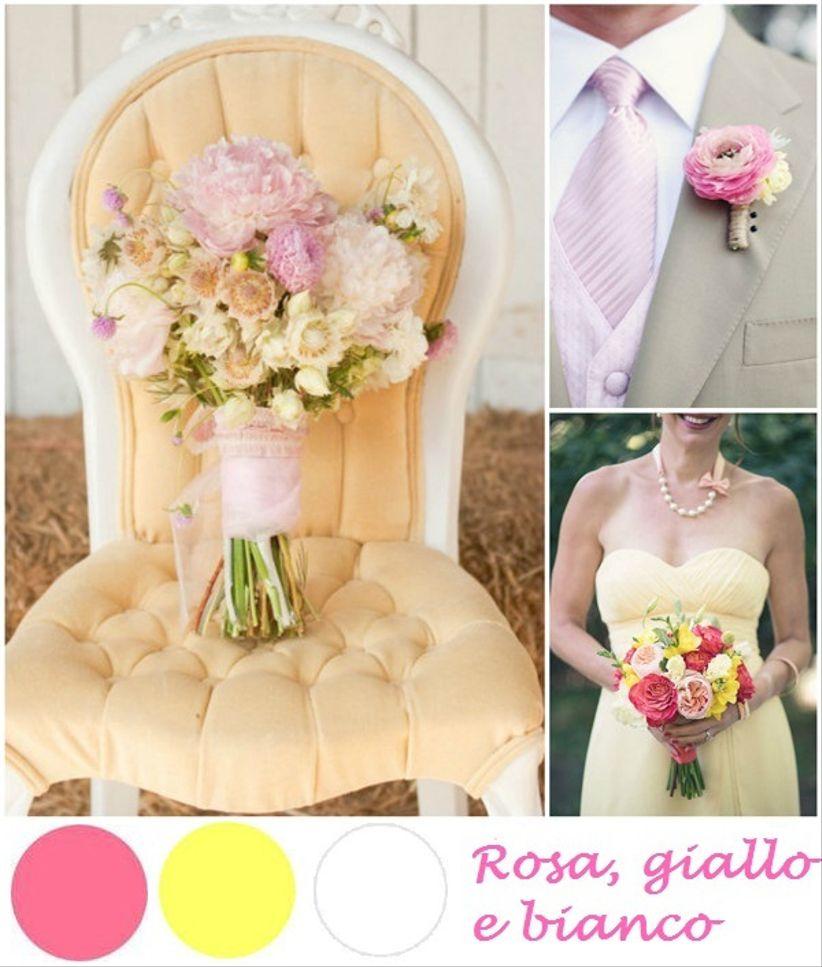 Matrimonio In Giallo E Bianco : Nozze in rosa giallo e bianco