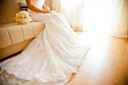 5 consigli per gestire un abito da sposa con strascico