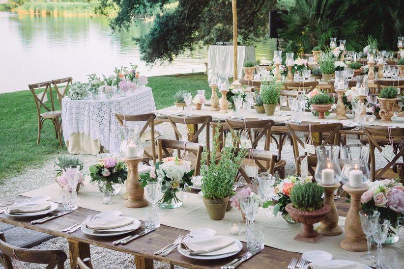 Allestimento Matrimonio Bohemien : Gli elementi essenziali per la decorazione dei tavoli