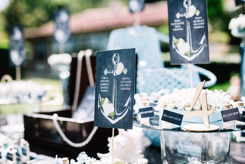 Tableau Matrimonio Azzurro : Tableau de mariage a tema mare concetti base