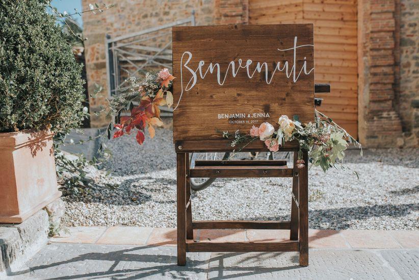 Tableau Matrimonio In Legno : Mood wood: 50 modi per decorare le nozze con il legno