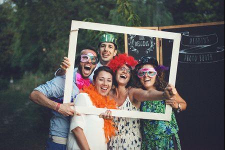 Angolo Photo Booth alle vostre nozze? Ecco quello che dovete sapere sulle sue cornici!
