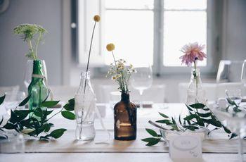 Centrotavola minimal: spunti semplici ed eleganti per un banchetto unico