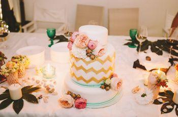 Amanti del design e delle le torte nuziali d'artista? Per voi 35 geometric cakes!