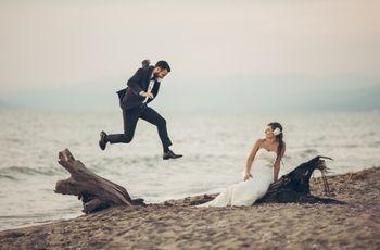 15 idee per scatti di nozze divertenti
