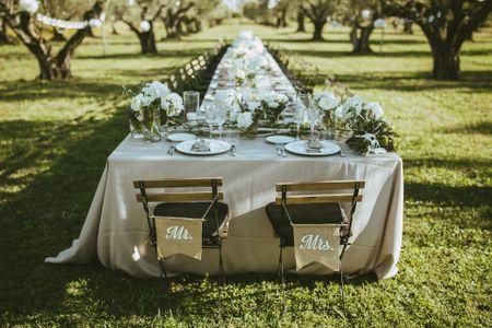 Numerare o nominare i tavoli del banchetto? Ecco tutti i pro e i contro!