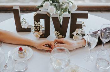 7 modi di utilizzare le lettere nelle vostre decorazioni di nozze