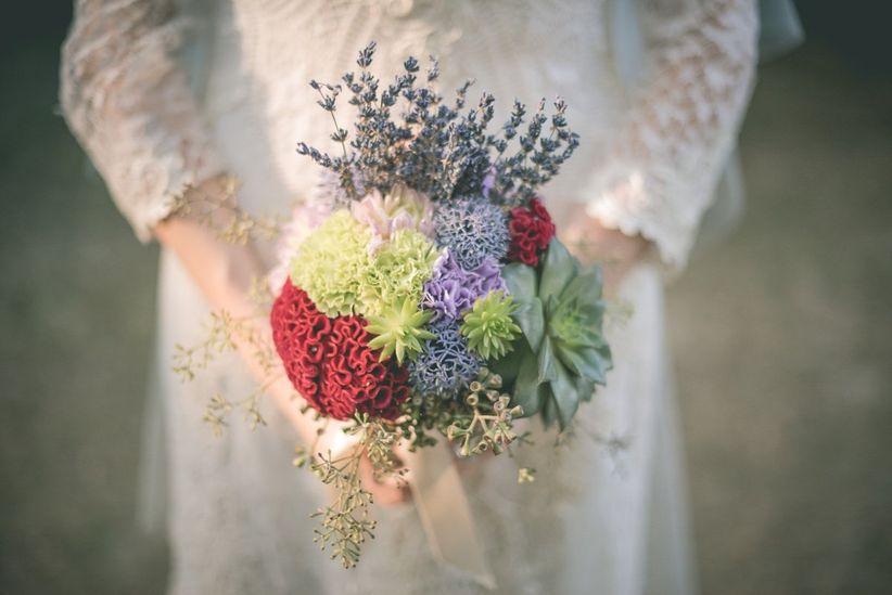 Quale colore scegliere per il bouquet da sposa?