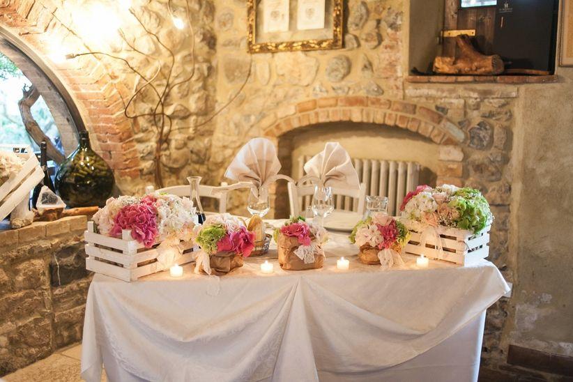 Decorazione Matrimonio Rustico : Idee per la decorazione del tavolo degli sposi