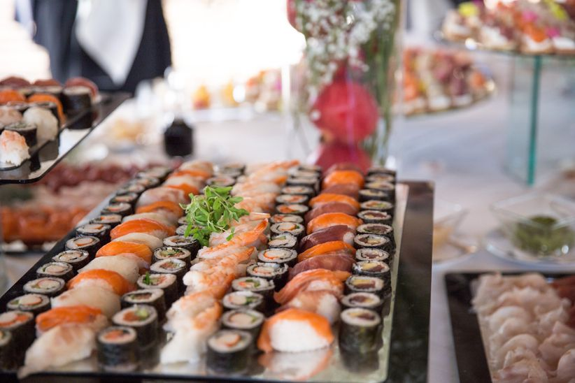 Popolare Idee per allestire un buffet di sushi per un matrimonio UK26