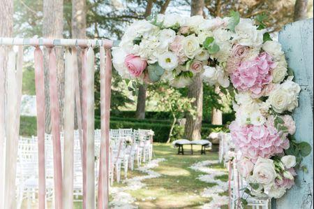 Allestimenti floreali per matrimono in stile soft romantic