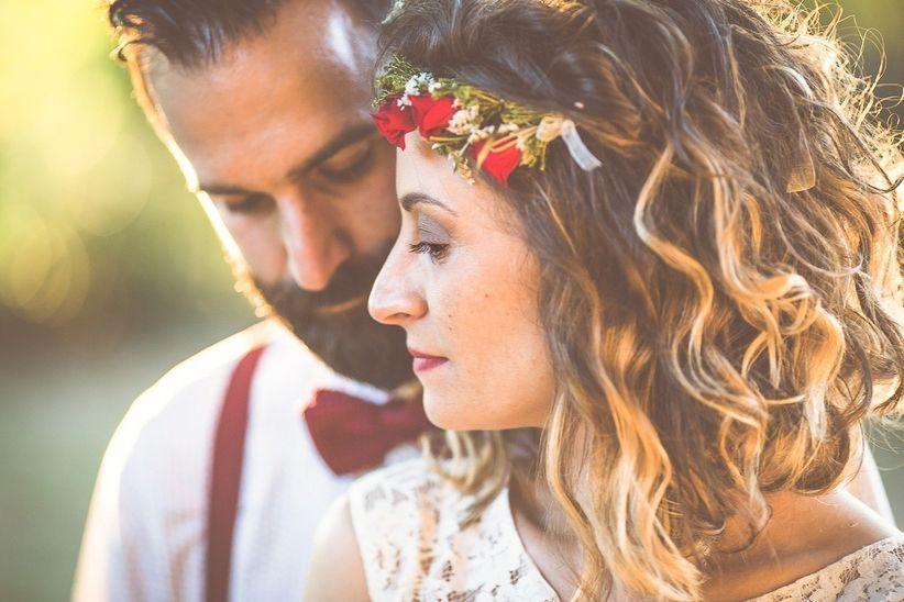 Acconciature da sposa capelli corti