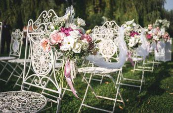 10 modi insoliti per posizionare i fiori al vostro matrimonio