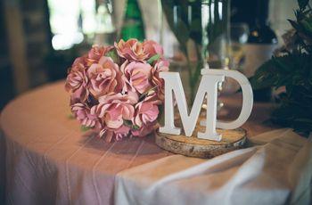 Tanti modi per decorare il matrimonio con le lettere. Dalla A alla Z!