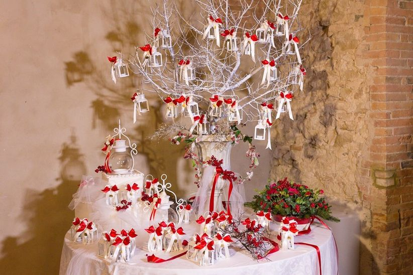 Segnaposto Matrimonio Tema Natalizio.Nozze Di Natale