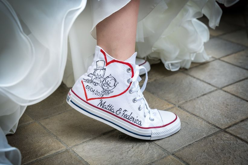scarpe converse per matrimonio