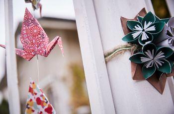 35 idee per decorare le vostre nozze con gli origami