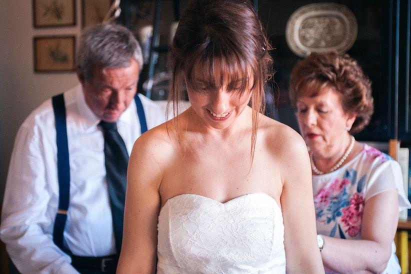 35 Acconciature da sposa per chi porta la frangetta 8c8e8339f158