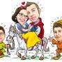 Le nozze di Emanuela Capocasa e Caricature di Marco Martellini 27
