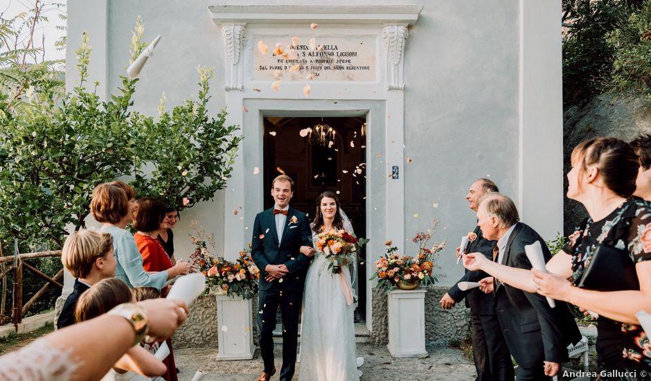Il matrimonio di Thomas e Carmen a Furore, Salerno