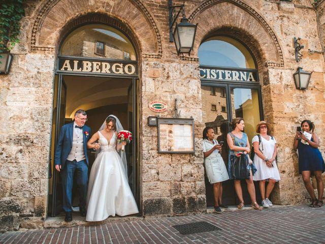 Il matrimonio di Federica e Andi a San Gimignano, Siena 35