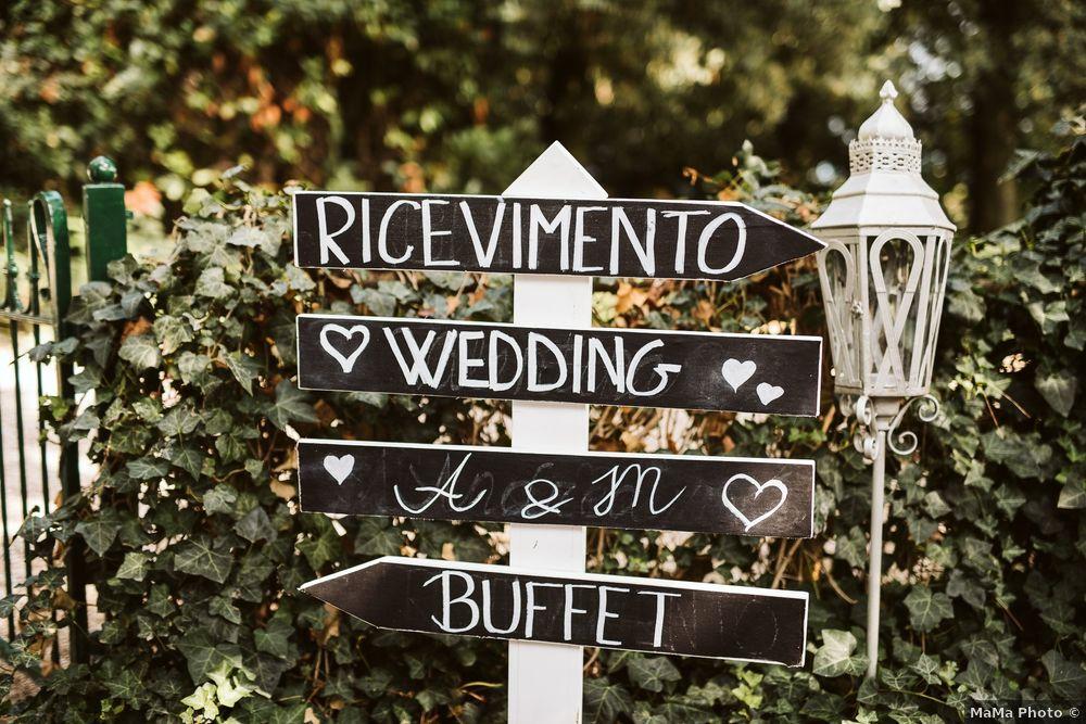 Matrimonio all'aperto: i cartelli 1