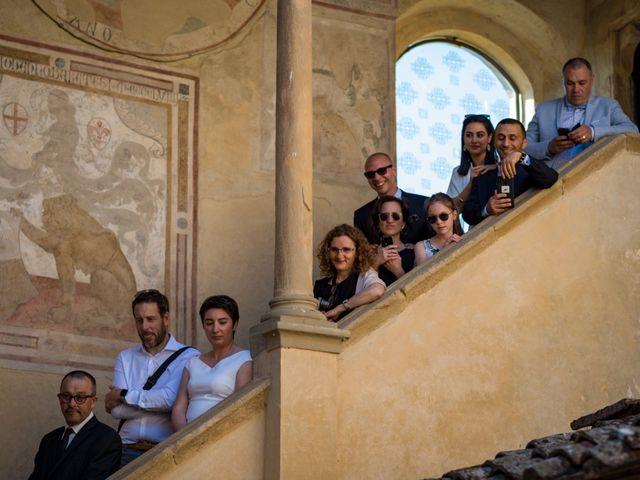 Il matrimonio di Christophe e Marie a Certaldo, Firenze 53