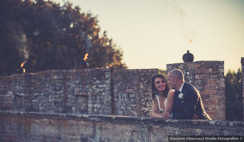 Il matrimonio di Christophe e Marie a Certaldo, Firenze
