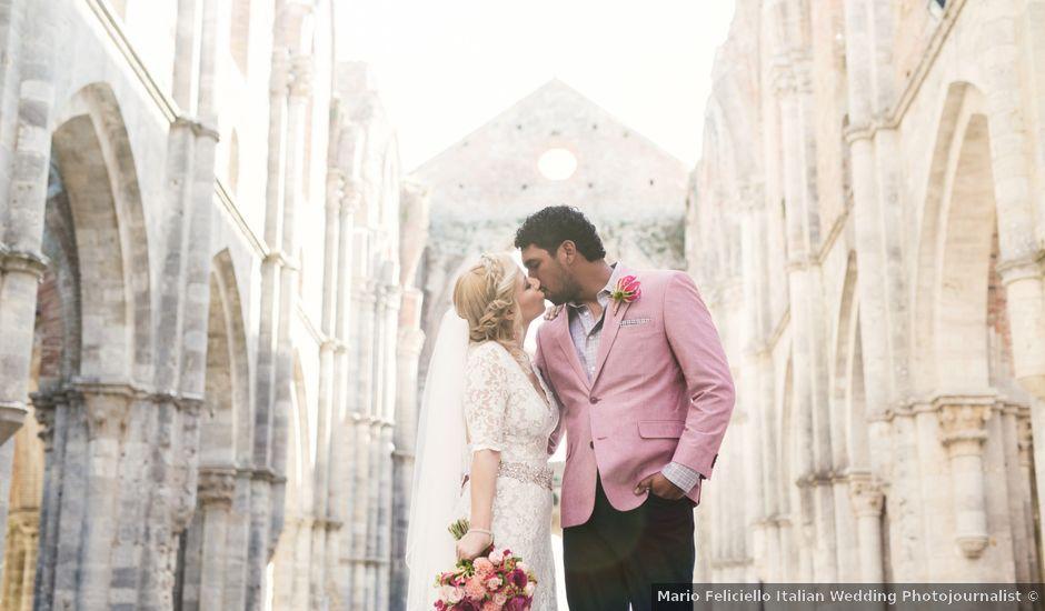 Il matrimonio di Luis e Erica a Chiusdino, Siena