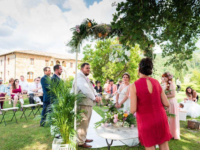 Il matrimonio di James e Alainna a Radicondoli, Siena 78