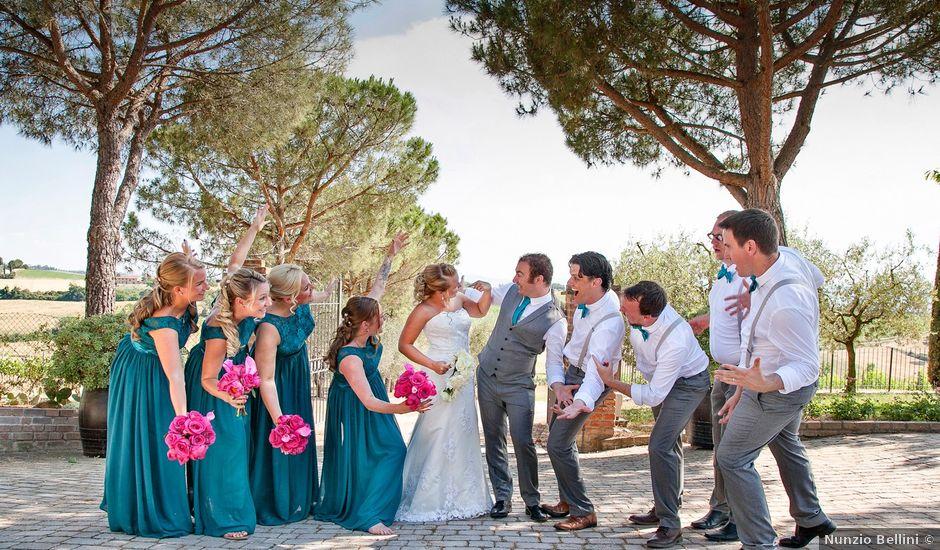 Il matrimonio di Steven e Martine a Montepulciano, Siena