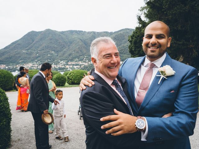 Il matrimonio di Jaspal e Reena a Cernobbio, Como 30