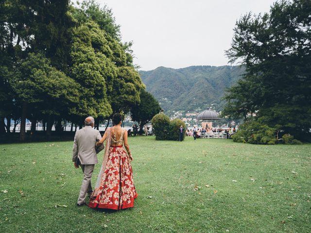 Il matrimonio di Jaspal e Reena a Cernobbio, Como 45