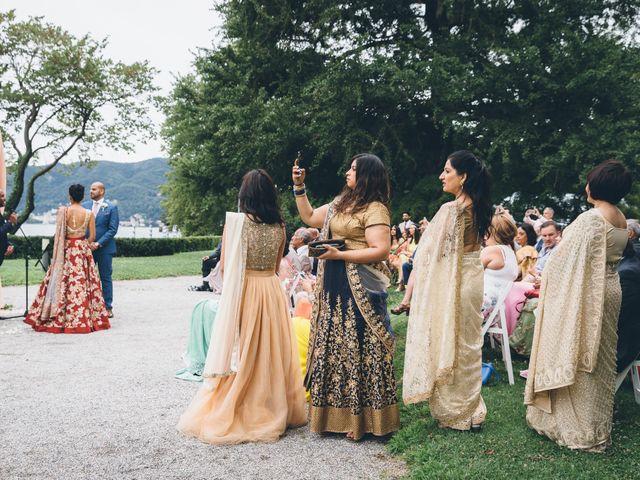 Il matrimonio di Jaspal e Reena a Cernobbio, Como 50