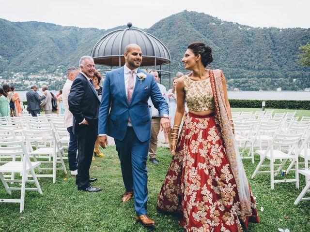 Il matrimonio di Jaspal e Reena a Cernobbio, Como 64