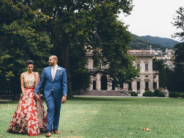 Il matrimonio di Jaspal e Reena a Cernobbio, Como 67