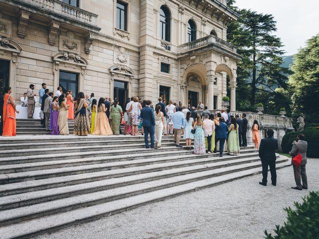 Il matrimonio di Jaspal e Reena a Cernobbio, Como 95