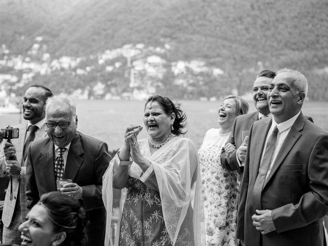 Il matrimonio di Jaspal e Reena a Cernobbio, Como 96