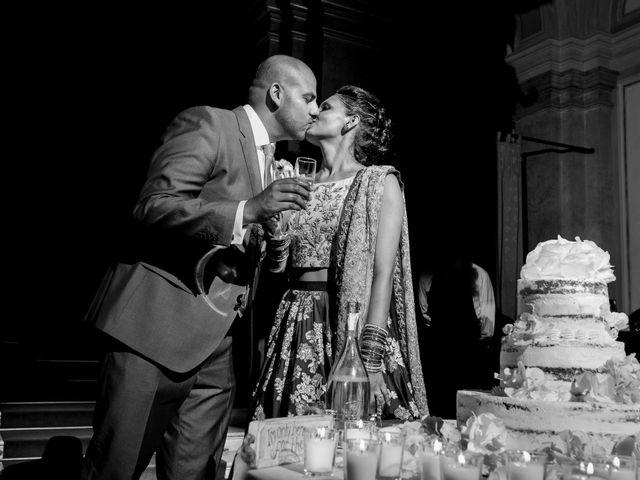 Il matrimonio di Jaspal e Reena a Cernobbio, Como 127