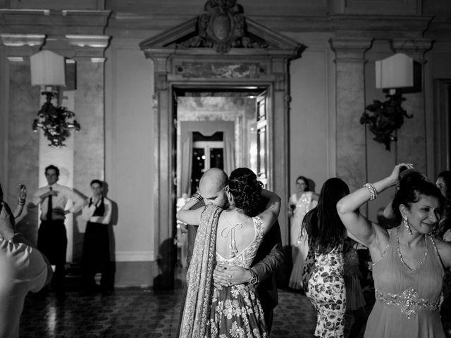Il matrimonio di Jaspal e Reena a Cernobbio, Como 165
