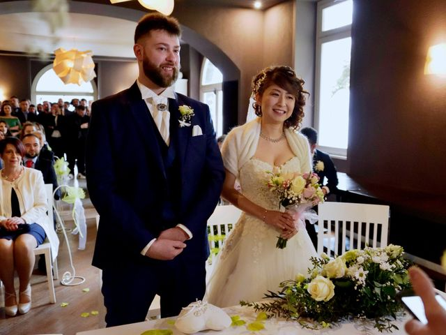 Il matrimonio di Davide e Aya a Lierna, Lecco 30