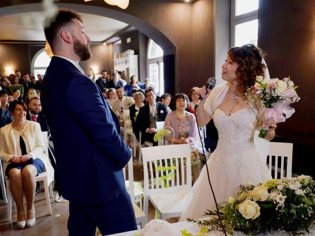 Il matrimonio di Davide e Aya a Lierna, Lecco 31