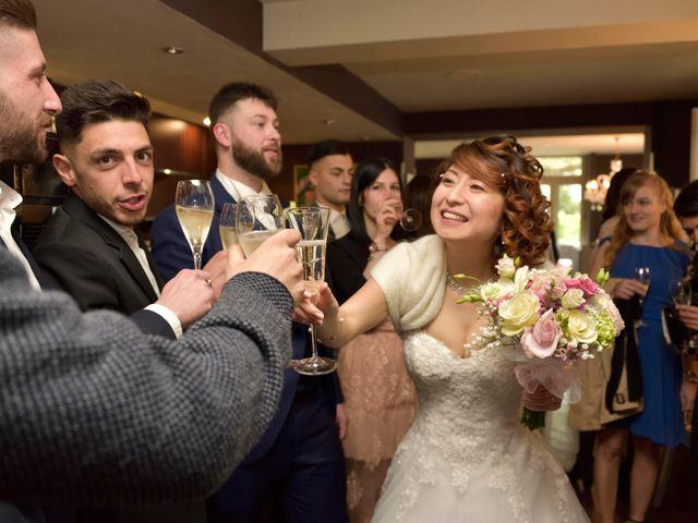 Il matrimonio di Davide e Aya a Lierna, Lecco 34