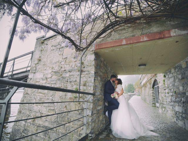 Il matrimonio di Davide e Aya a Lierna, Lecco 44