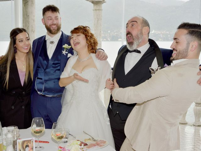 Il matrimonio di Davide e Aya a Lierna, Lecco 49